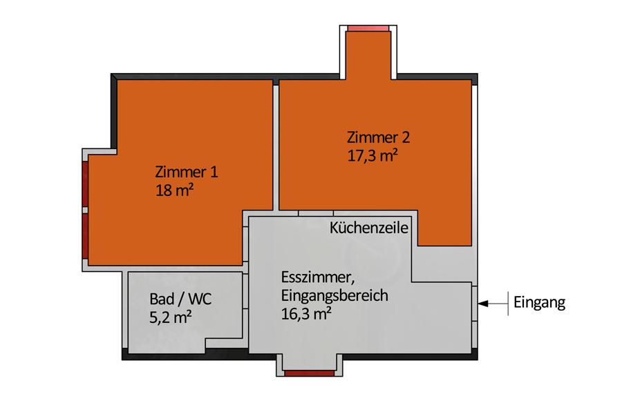 Haupthaus WG / Wohnung 1
