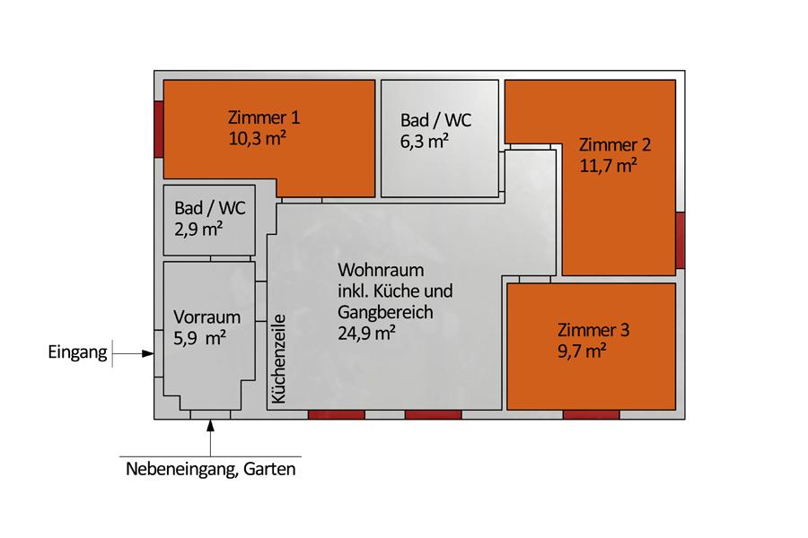 Nebenhaus WG / Wohnung 1